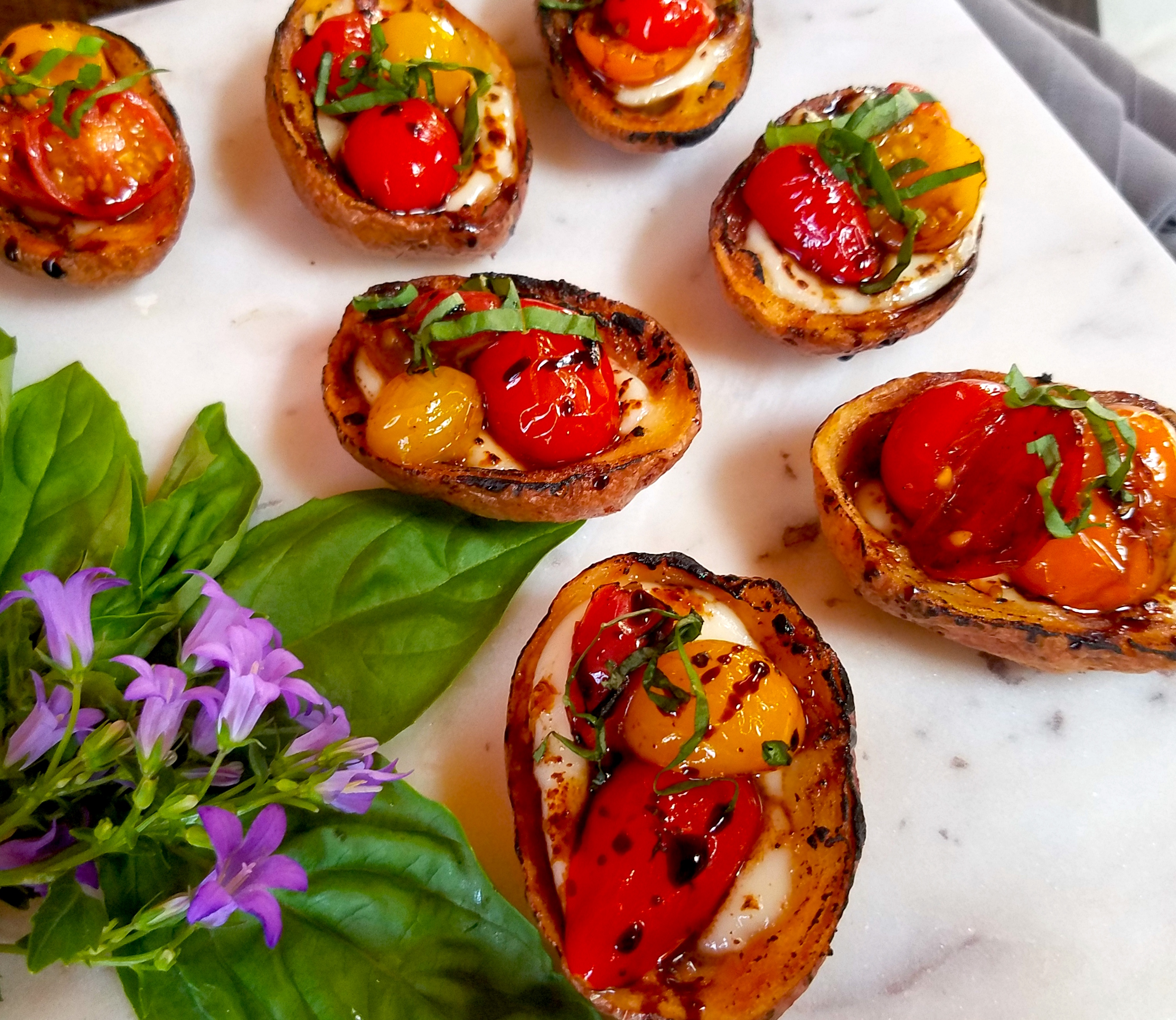 Tomato Potato Skin Bruschetta