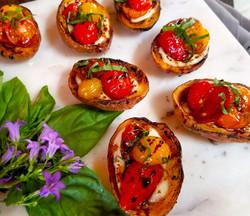 Tomato Potato Skin Bruschetta