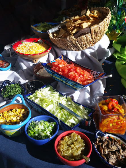 Amy's Superbowl taco bar