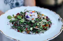 Our goat cheese & pomegranate salad
