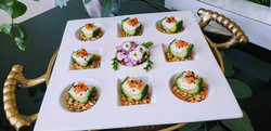 salmon mousse cucumbers