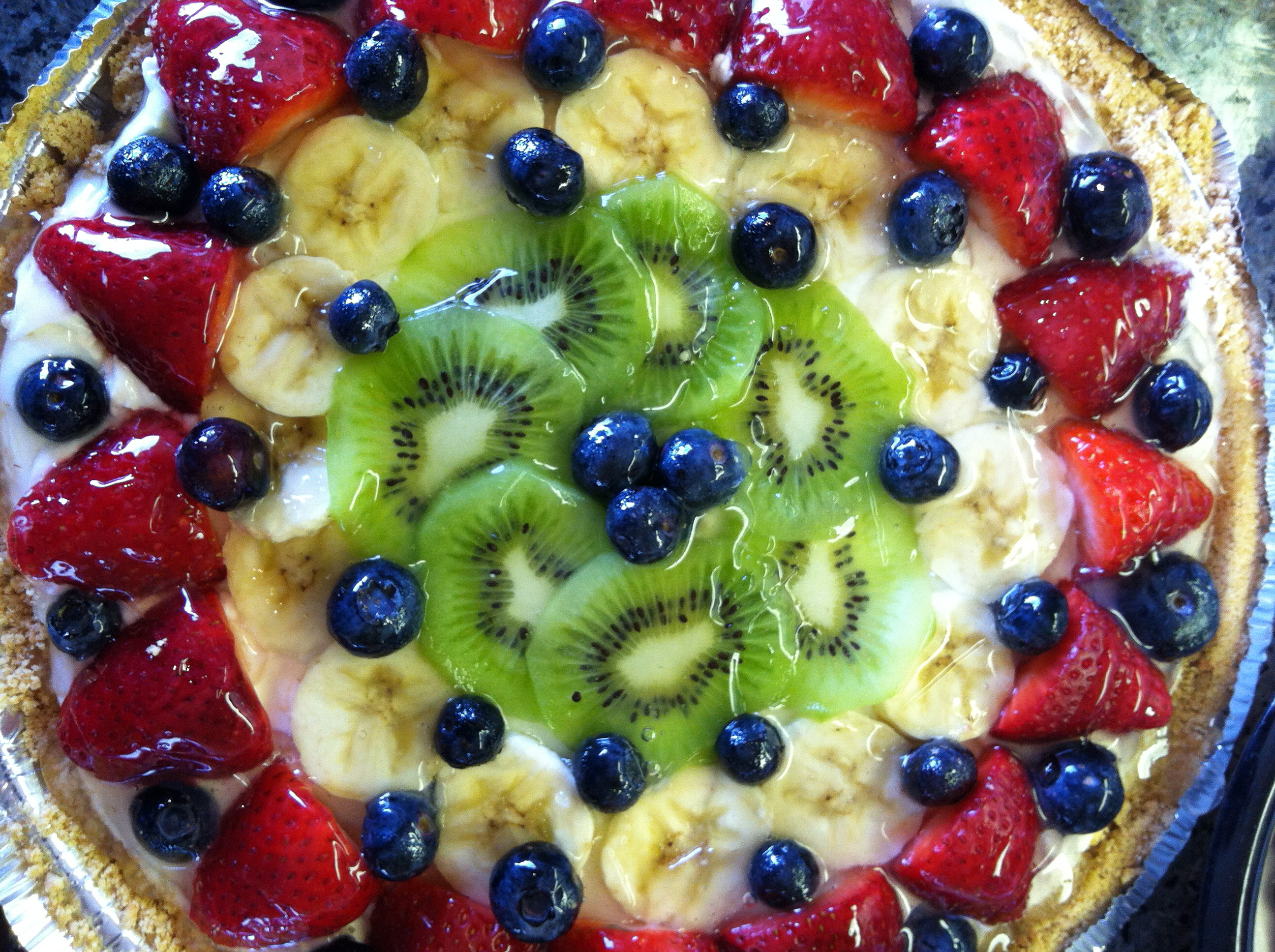 Bavarian Cream Fruit Tart