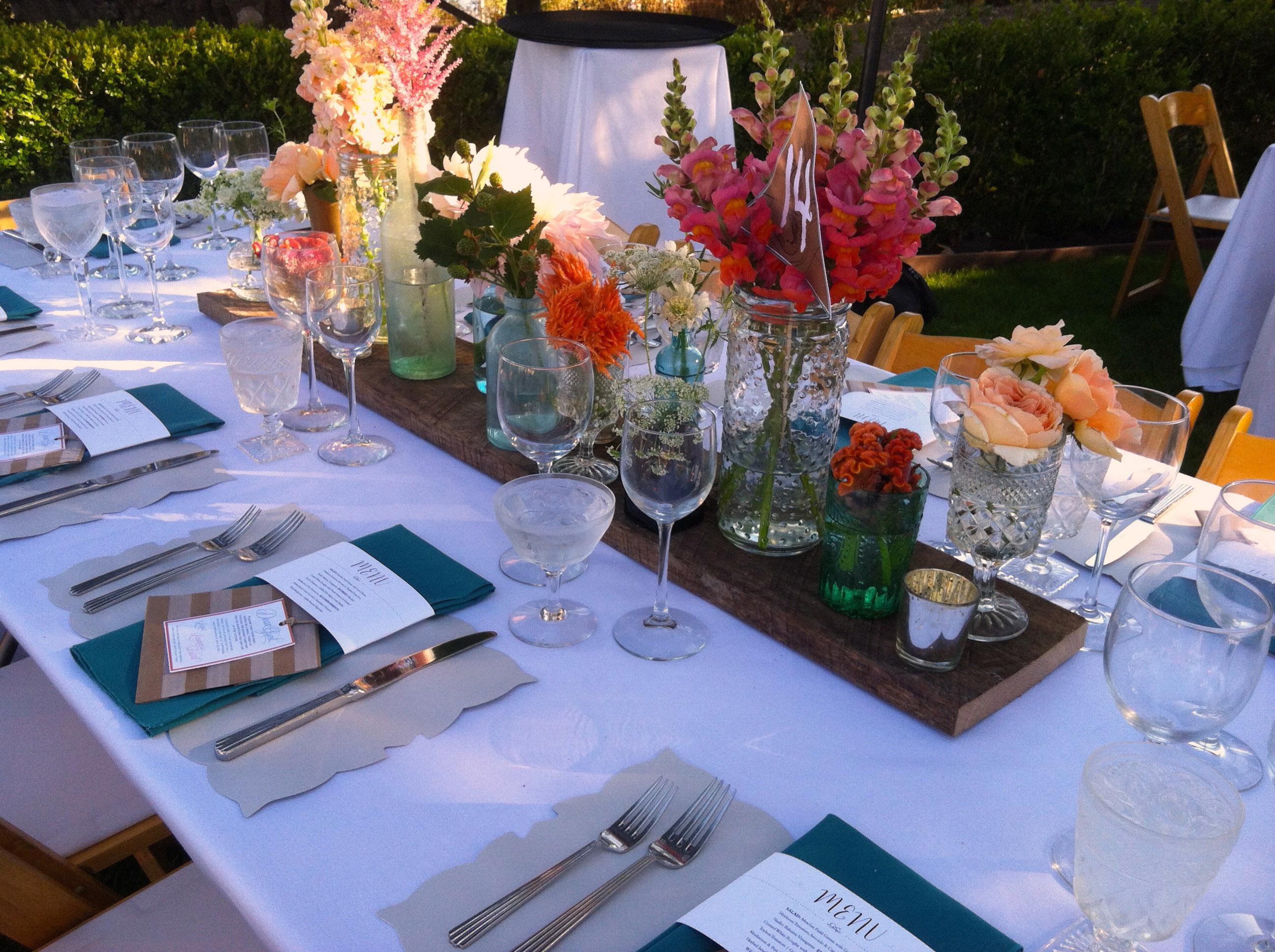 David & Lauren Wedding Table