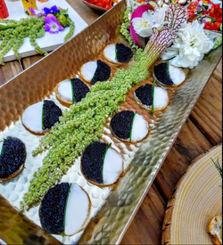 Blinis with Caviar and Creme Fraiche