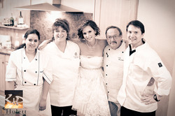 Our staff with Bride Anna in France