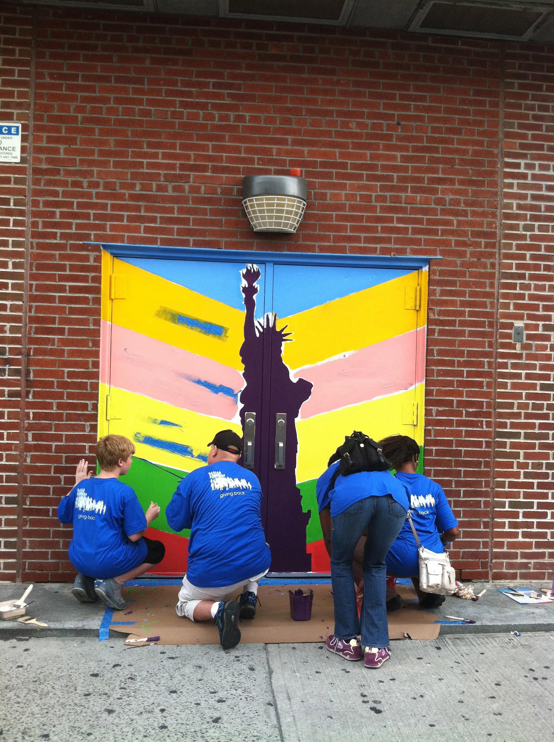 PS 268 Emma Lazarus Mural, 2012