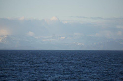 Greenland in the distance