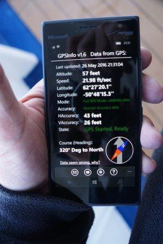 GPS reading