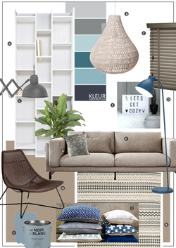 collage woonkamer