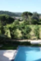 vue du gite des laurier domaine avalone piscine pas de vis a vis charme luxe
