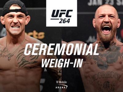 UFC 264: Poirier vs. McGregor 3 Weigh-In Results