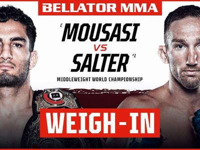 Bellator 264: Mousasi vs. Salter Weigh-In Results