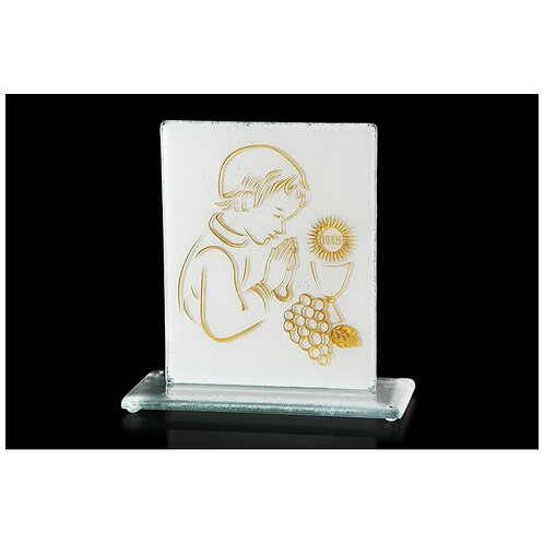 1st Holly Communion Gold Boy Statuette