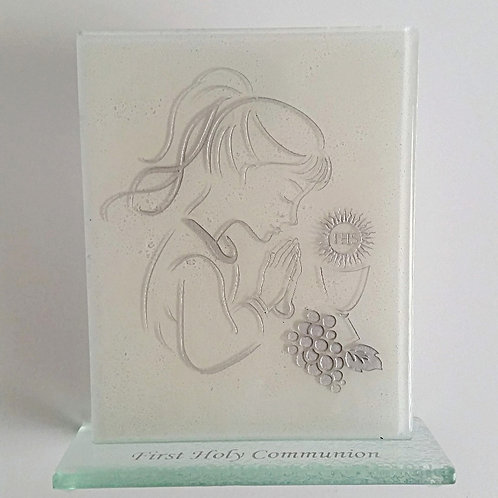 1st Holy Communion Silver Girl Statuette