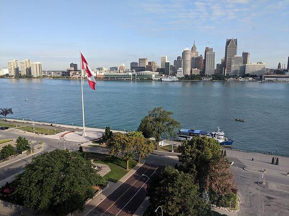 Detroit riverfront from Windsor