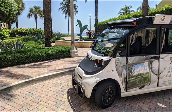 CAPSolar custom solar module on Circuit Shuttle Vehicles in Florida