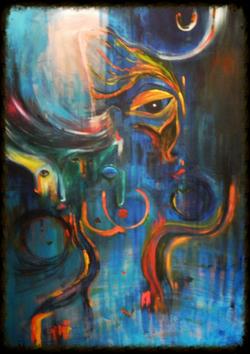Unfinished blue (Sold)
