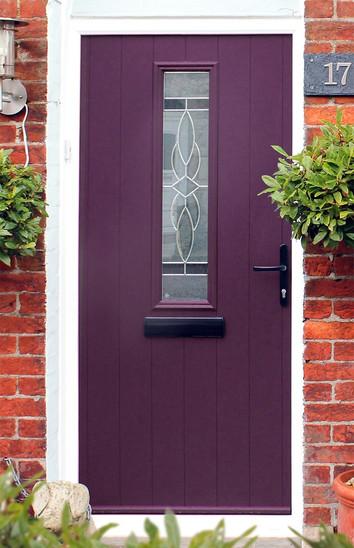 Solidor Composite Door - Ludlow - Rich Aubergine