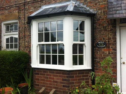 UPVC Sliding Sash Bay Window