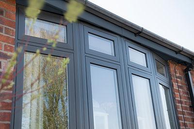Grey Flush Casement Window