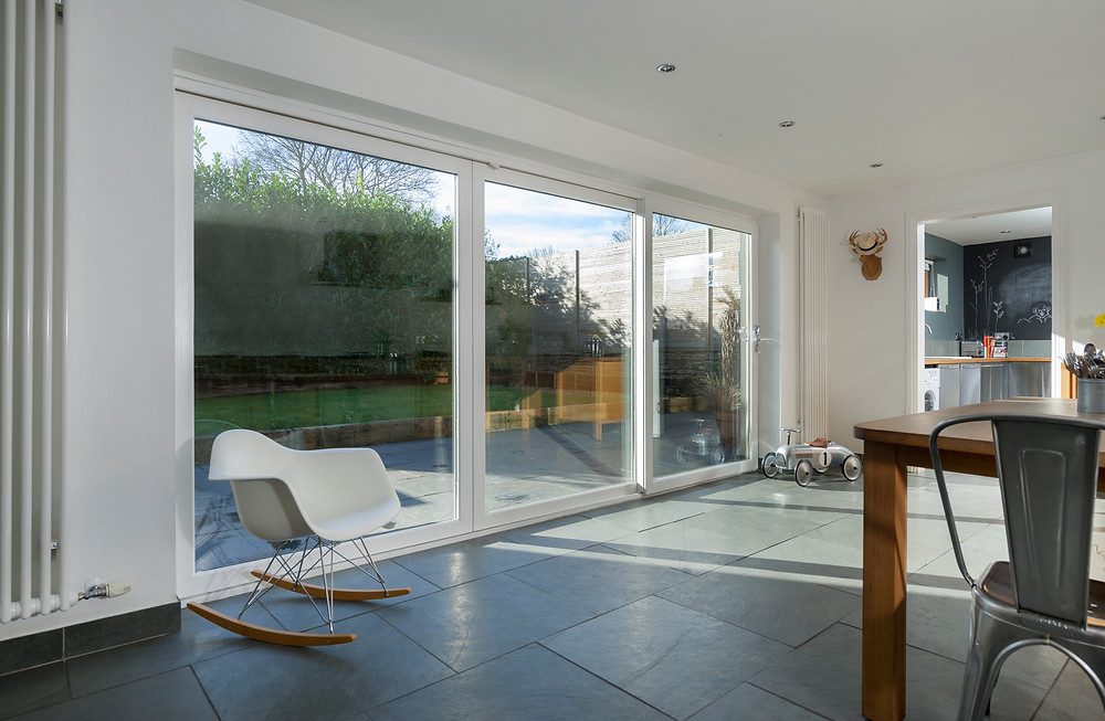 a large 3 pane UPVC double glazed patio door