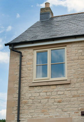 Cream UPVC Double Glazed Casement Window