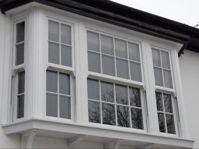UPVC Sliding Sash Bay Window