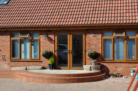Golden Oak French Doors & Windows
