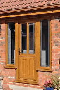 Oak UPVC Door