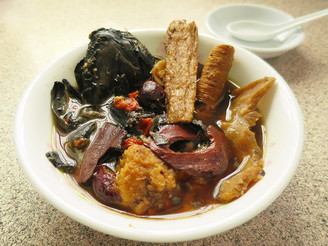 Herbal black chicken soup for hair and beauty 乌发养颜乌鸡汤