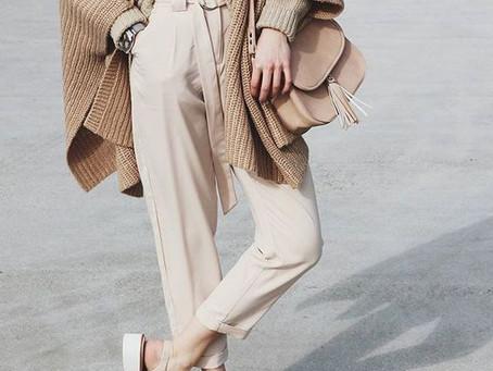 Tendência de moda em 2019 : Tons Neutros !