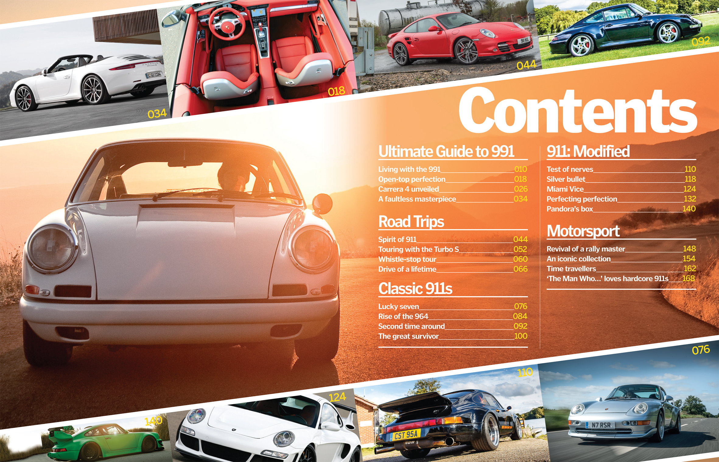 Porche 911 content spread developmen