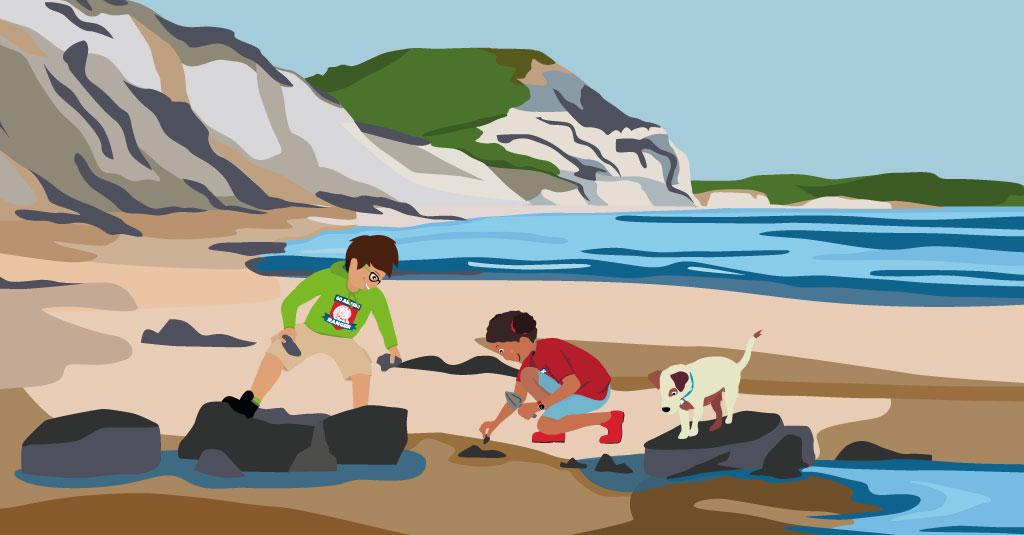 JCT-Rangers-Charmouth-Beach-fossil-hunti