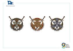 Medal design illustration