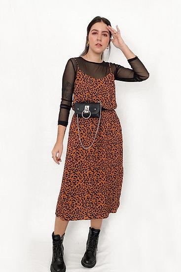 Vestido Midi Leopard