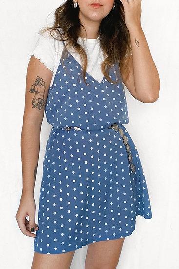 Vestido Blue Dots