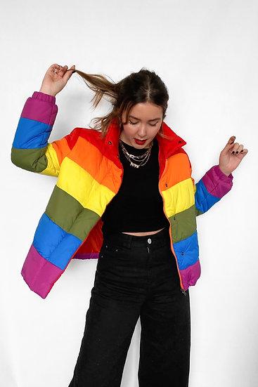 Jaqueta Puffer Rainbow