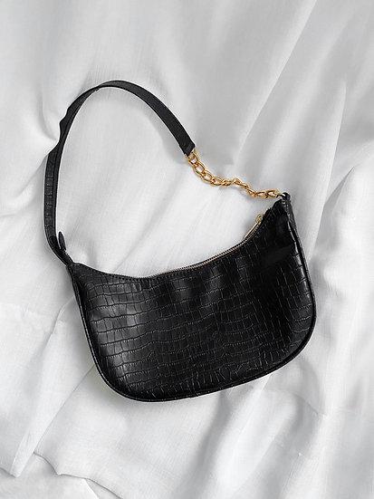 Bolsa Croco Black