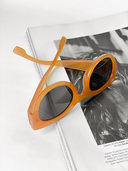 Óculos Round Orange