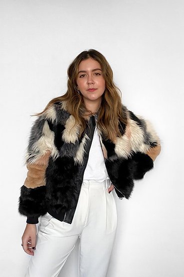 Casaco Fake Fur P!nk