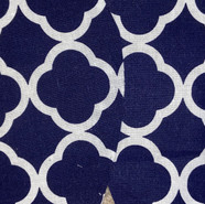 Blue & White Patterned