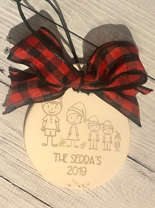 Ceramic Family Custom Ornament