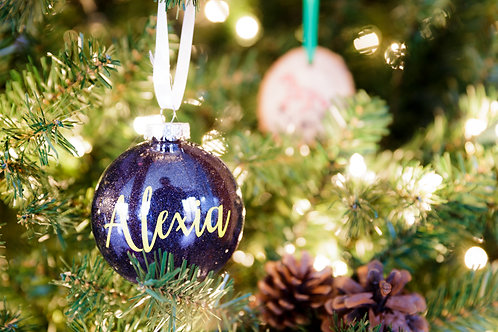 Sparkle Name Ornament