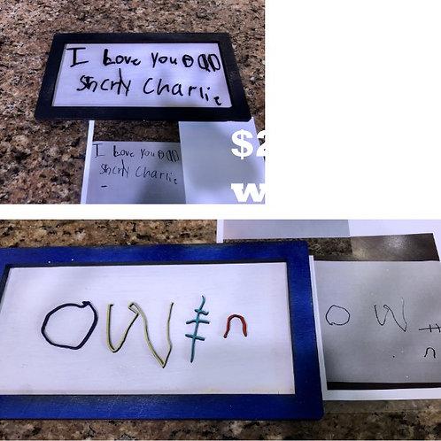 Kid's Handwriting Frame