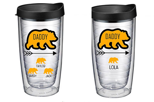 16oz double walled Golden bear dad cups
