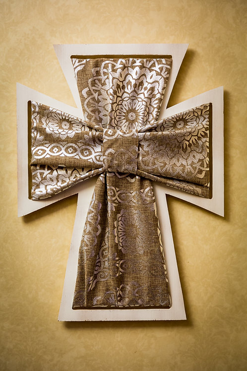 Wooden Crosses with Fabric