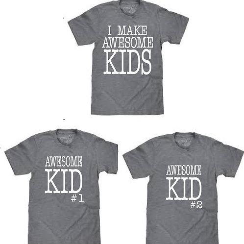 Awesome kids Dad shirt