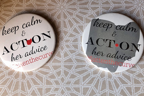 Keep Calm and Act On Ohio Buttons
