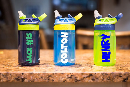 Personalized Contigo 14oz. Kids Water Bottle.