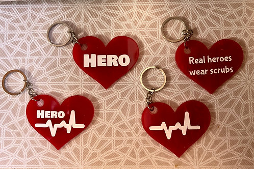 Hearts for Heroes Keychain